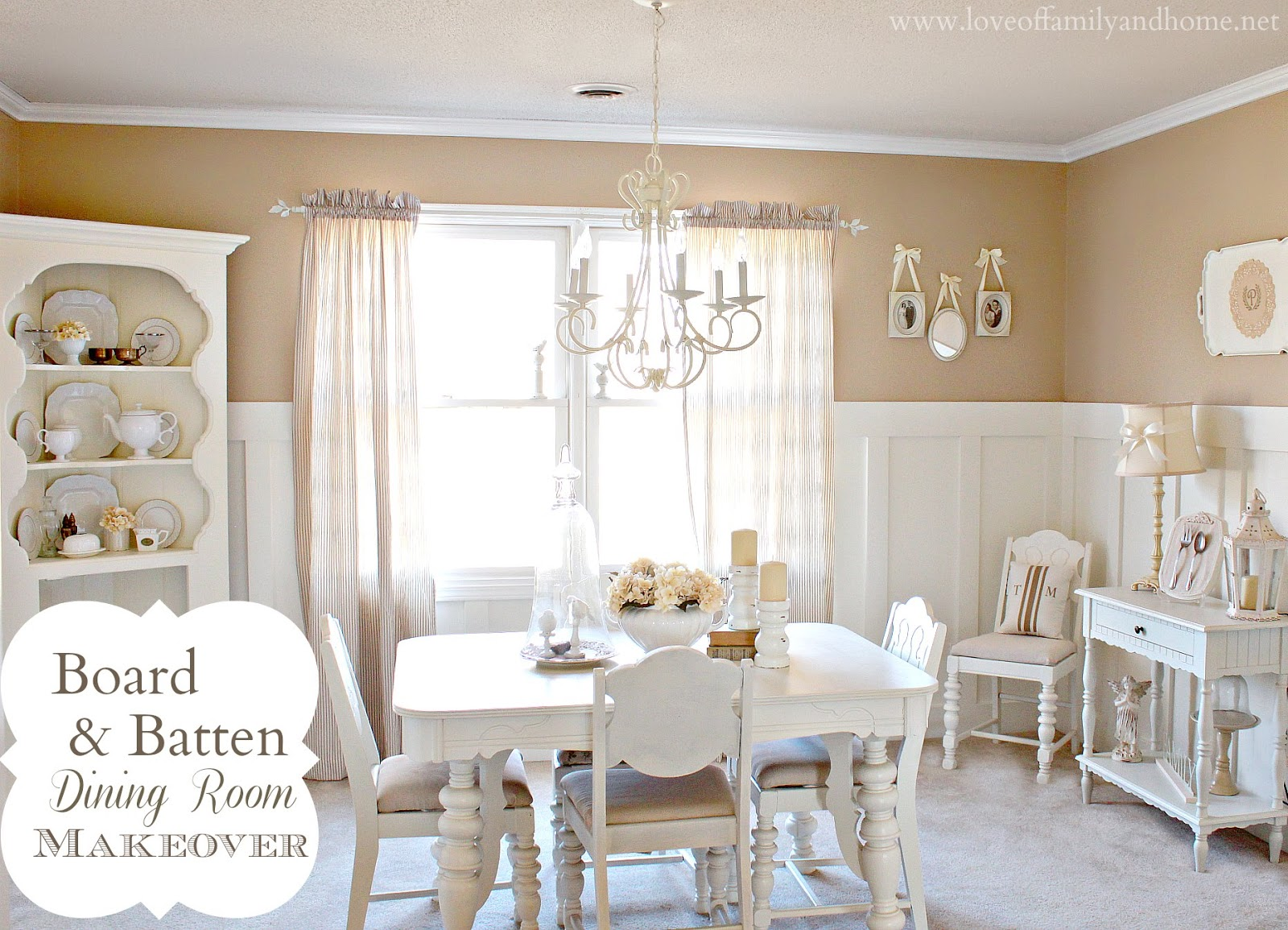 Board Batten Dining Room Makeover