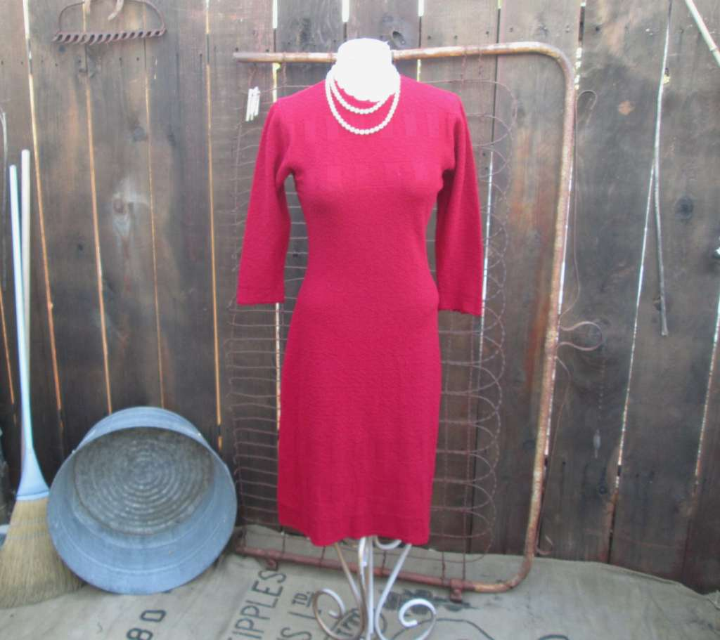 30s Knit Dress Vintage SweaterDress