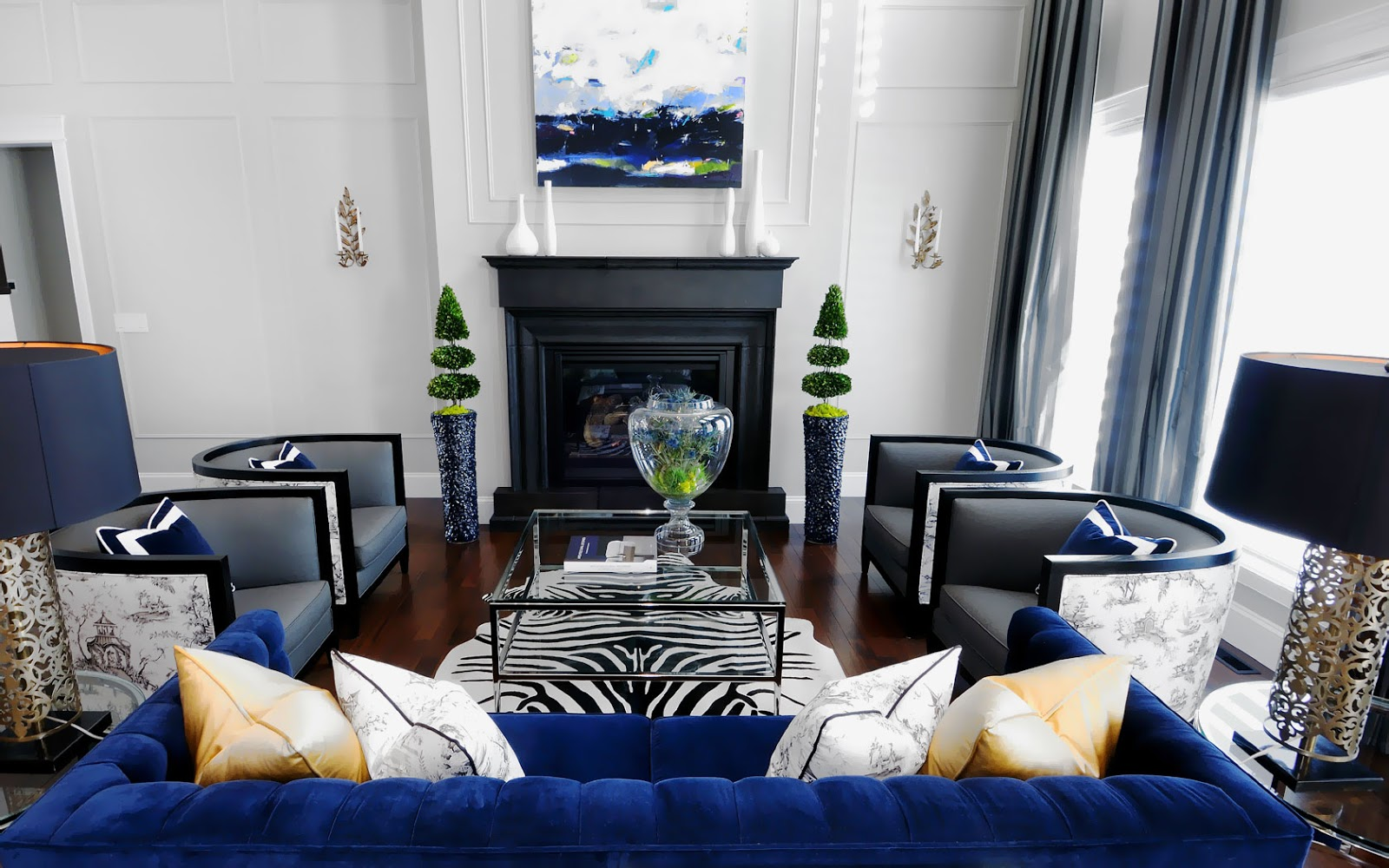 Upholster Your Favorite Sofa In A Royal Blue Velvet