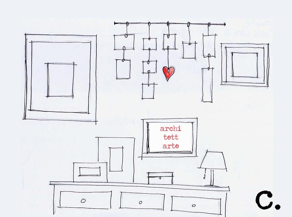Architettarte come appendere i quadri for Quadri decorativi arredamento