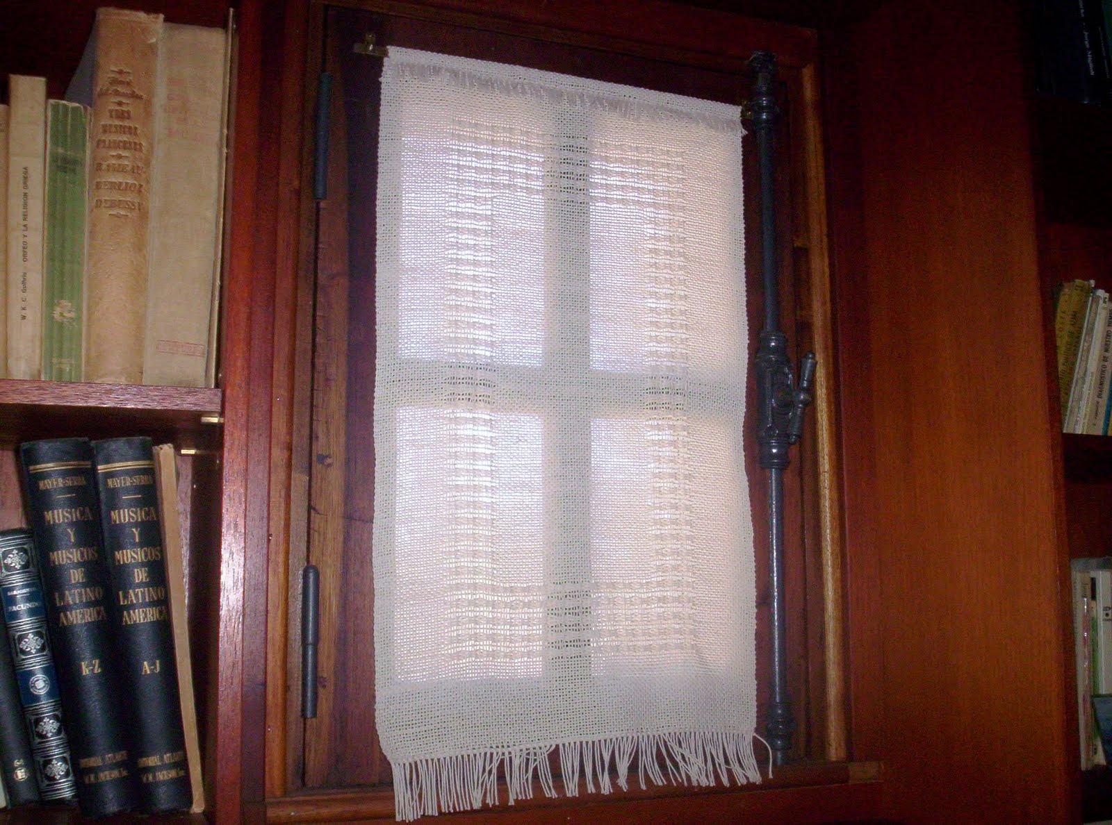 Cortinas y visillos telares a mano taller de tejido en - Visillos y cortinas ...