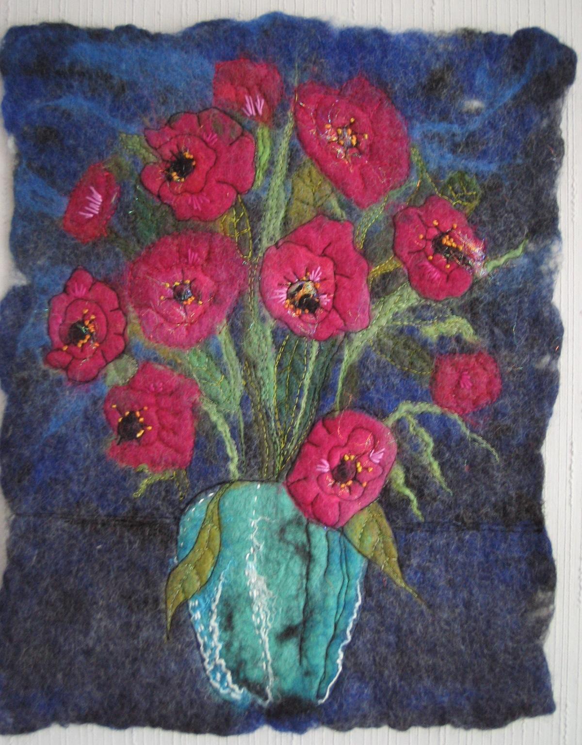 Lise's Blog: Wet Felted Flowers