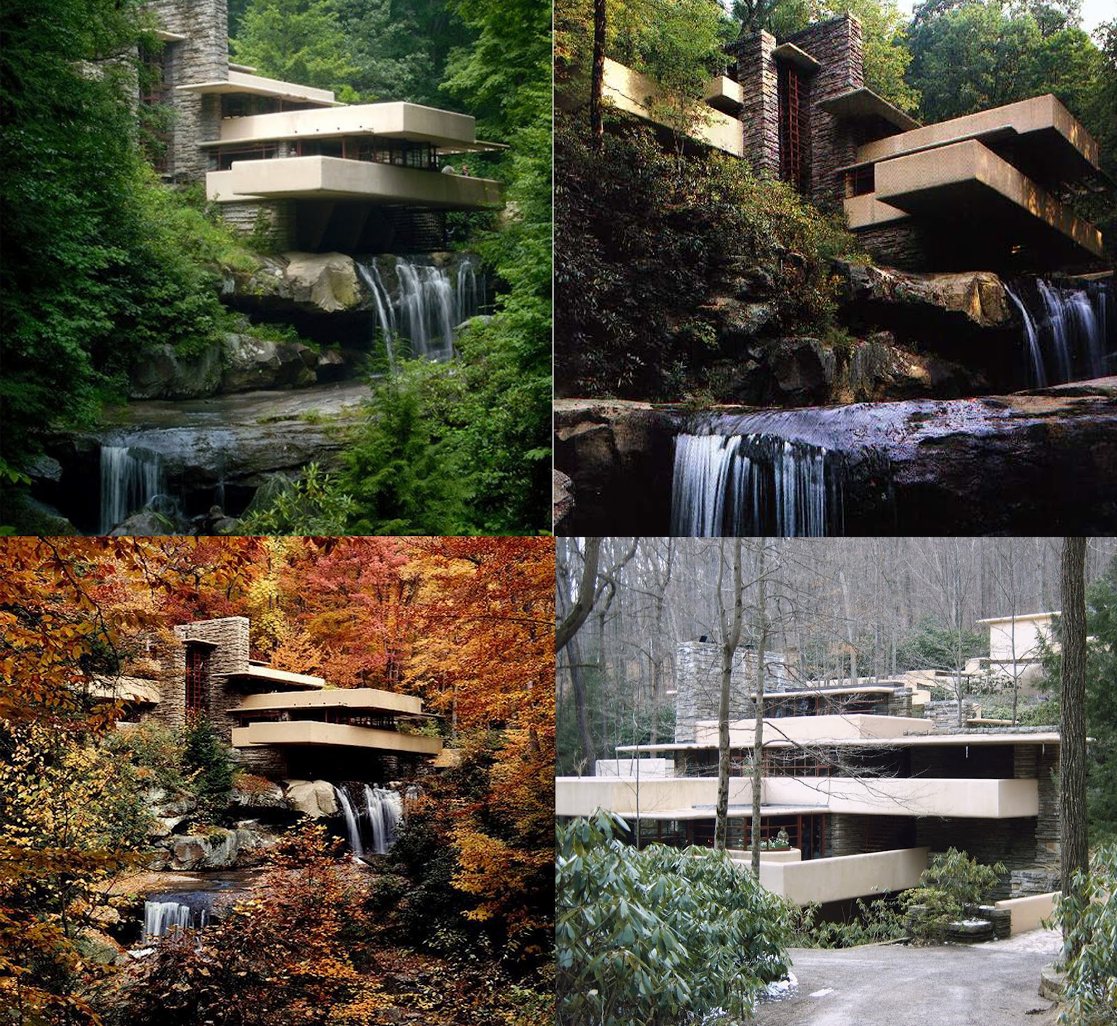 falling water A variety of tours are available of frank lloyd wright's masterpiece, fallingwater   polymath park, including duncan house, is located at 187 evergreen lane,.