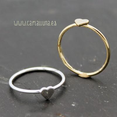 anillo vintage carlalluna en oro y plata