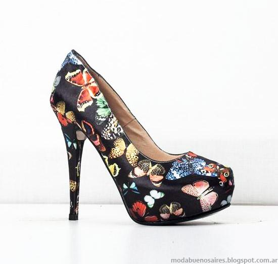 Zapatos Stilettos otoño invierno 2015 estampados Micheluzzi.
