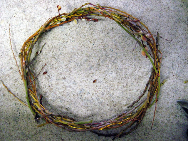 pussy willow wreath