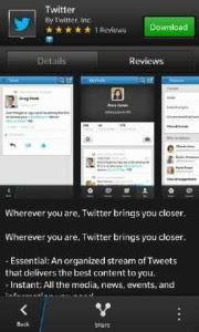 Twitter para BlackBerry 10 ha sido actualizado el día de hoy a la versión 10.0.0.45 y ya está disponible para su descarga, Twitter te ayuda a mantenerte conectado con las personas, Buscar información y noticias que te interesan. Está aplicación está disponible tanto para los nuevos dispositivos BlackBerry 10 y para los Dev Alpha Para descargar está aplicación solo debes hacer click AQUI