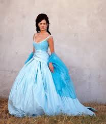 Blue Wedding Dresses Photos