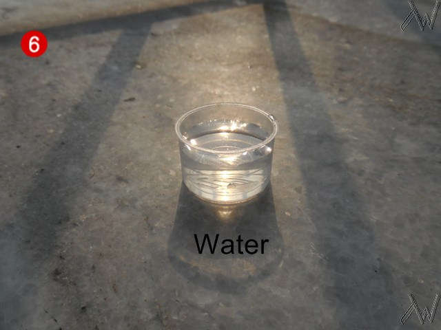 little water is needed