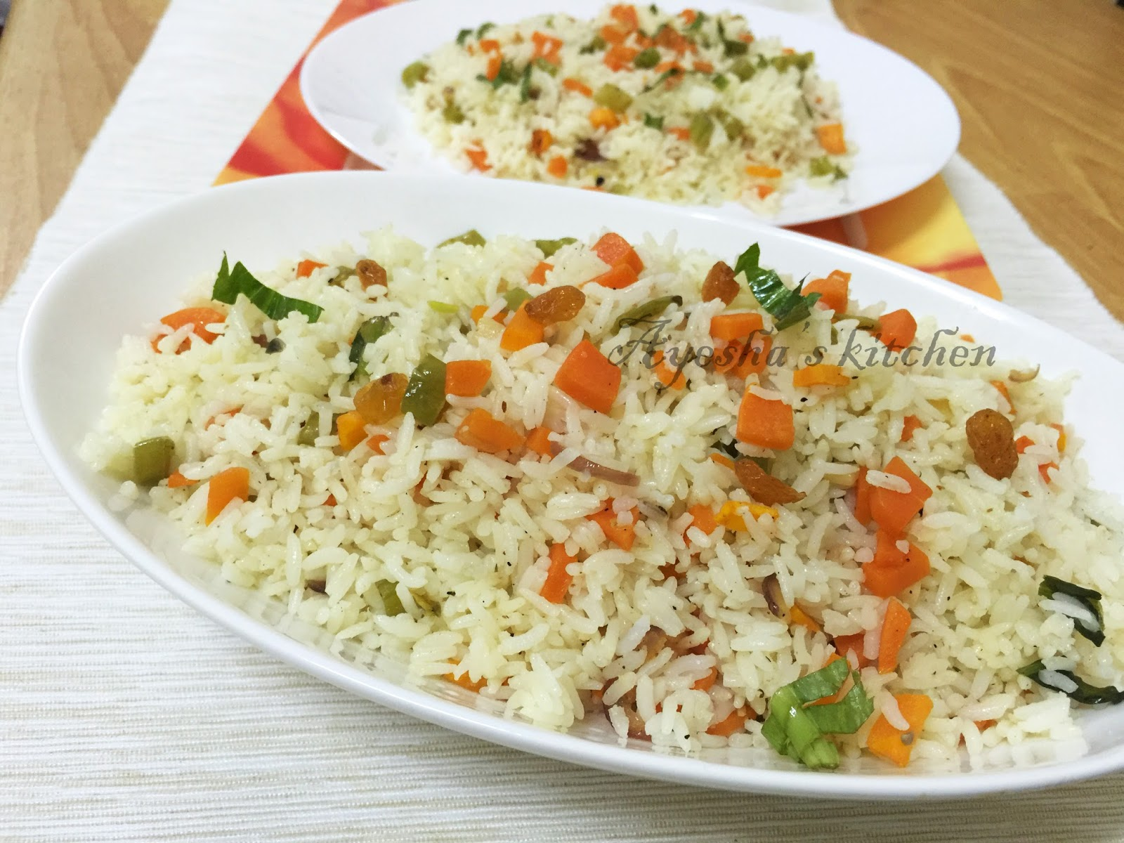 FRIED RICE RECIPE - VEGETABLE FRIED RICE