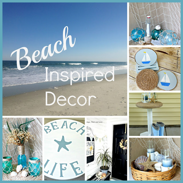 Vintage, Paint and more... Beach Inspired Decor Collage