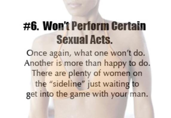 Top reasons men cheat