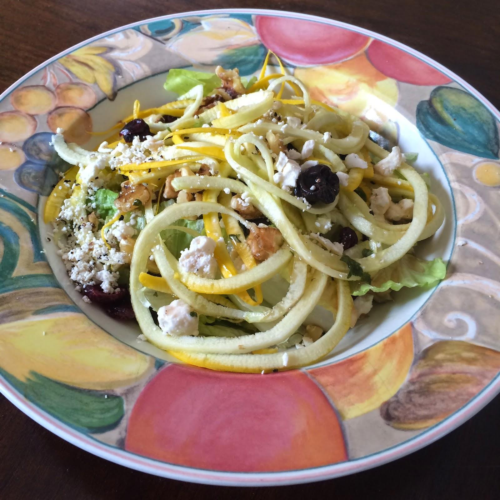 Zucchini Salad, Vegetarian, Recipe