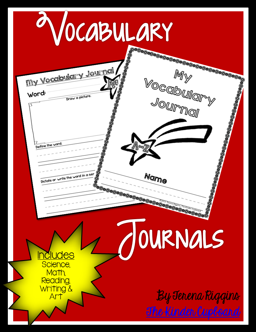 Primary Lined Vocabulary Journals