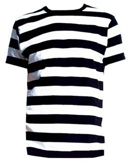 Little Black Cherry Black And White Striped Men 39 S Spooky