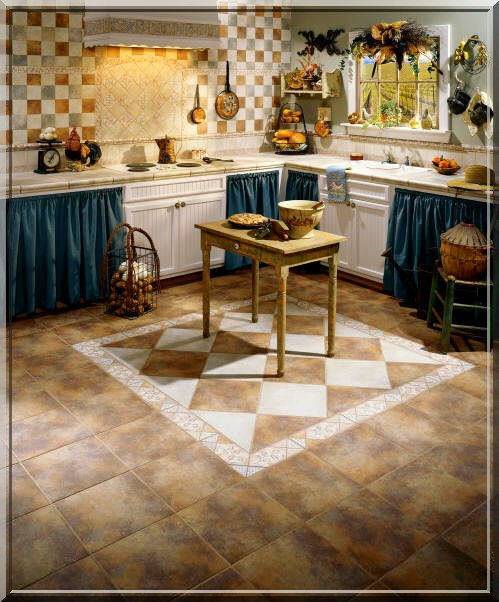 Spacinho cozinhas para inspirar for Country kitchen flooring