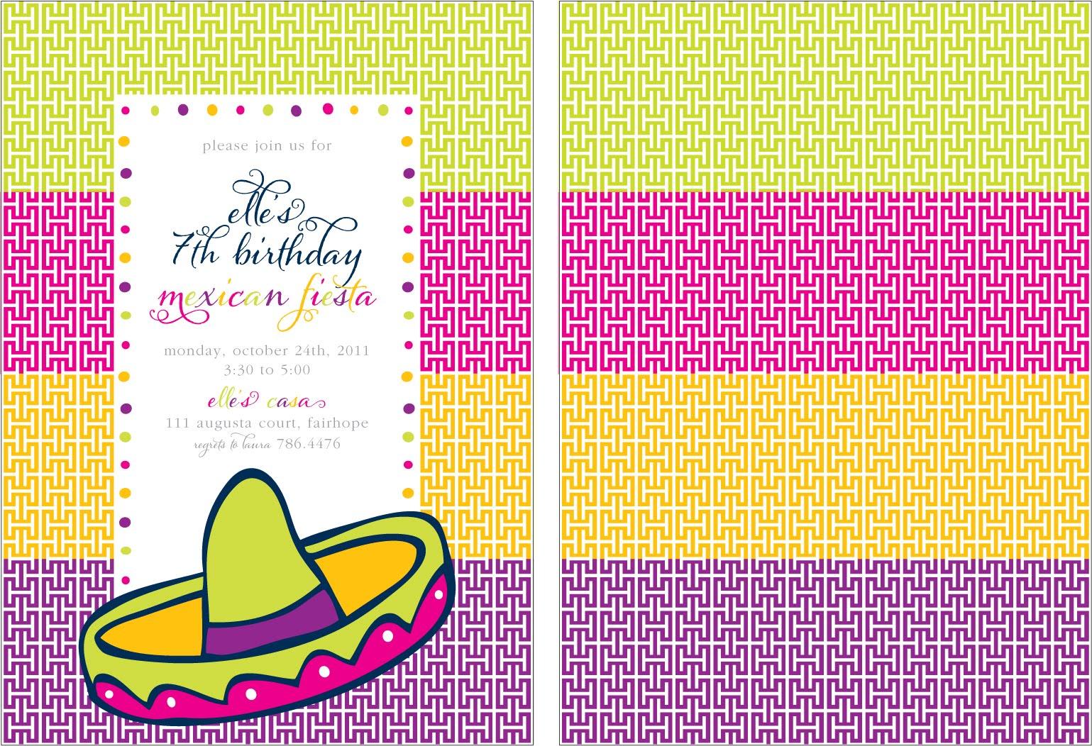 Fiesta Invitation Template for perfect invitations template