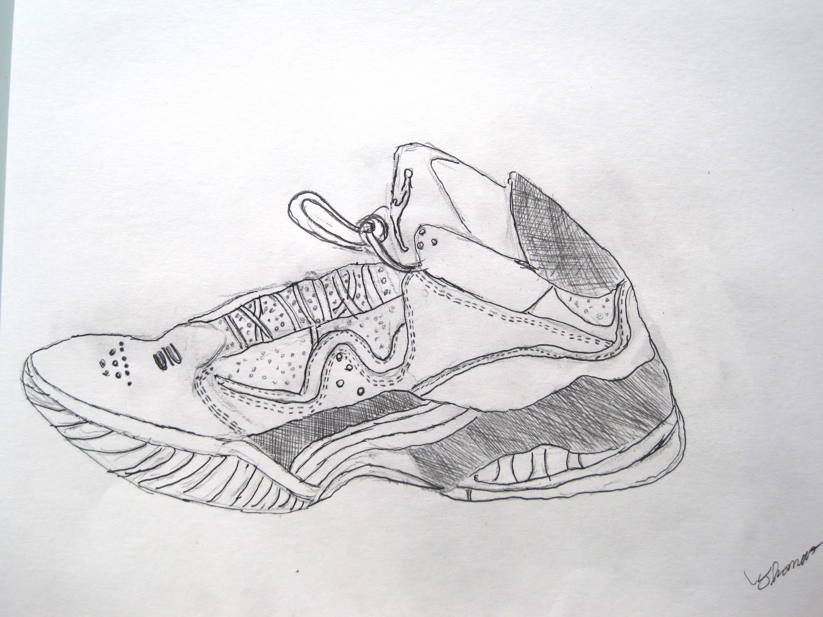 How To Draw Jordan Shoes 5