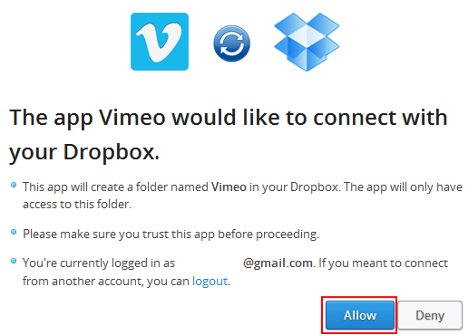 Vimeo Dropbox Upload 03