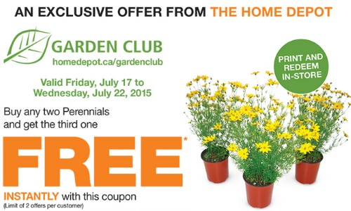 Canadian Daily Deals Home Depot Garden Club Perennials