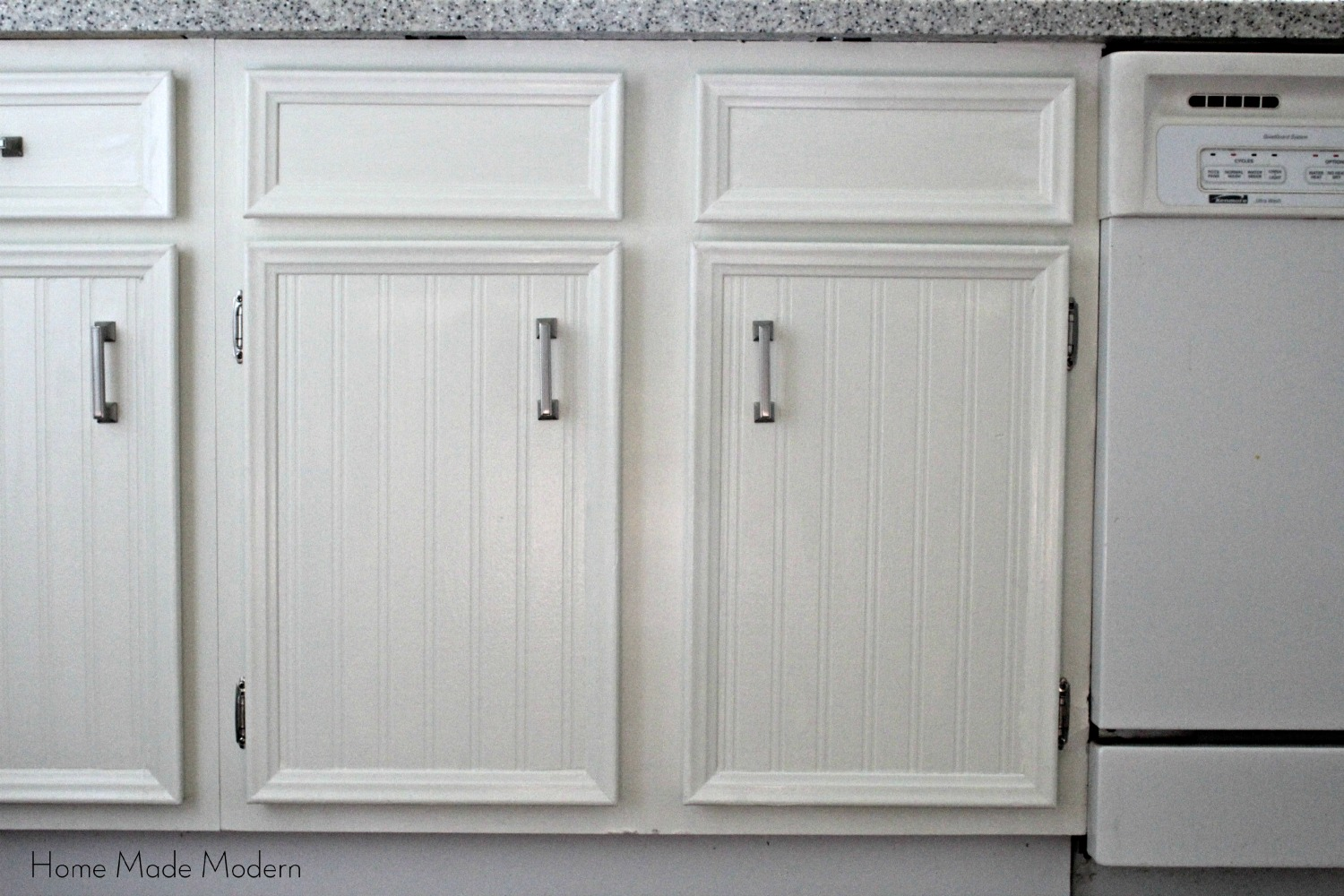 , but very effective IMO, way to update your kitchen cabinets