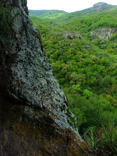 Mata vista da Caverna Percival Antunes, em Caçapava do Sul (RS).