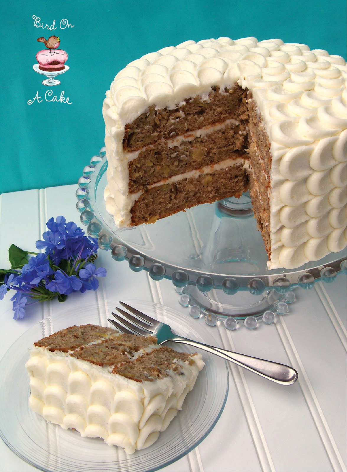 Bird On A Cake: Hummingbird Cake with Petal Tutorial