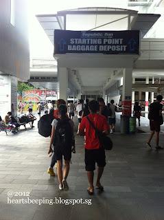 Republic Poly Run 2012, Heading to baggage deposit & Starting point