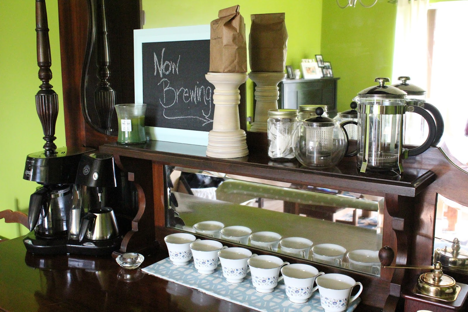 DIY styled coffee bar