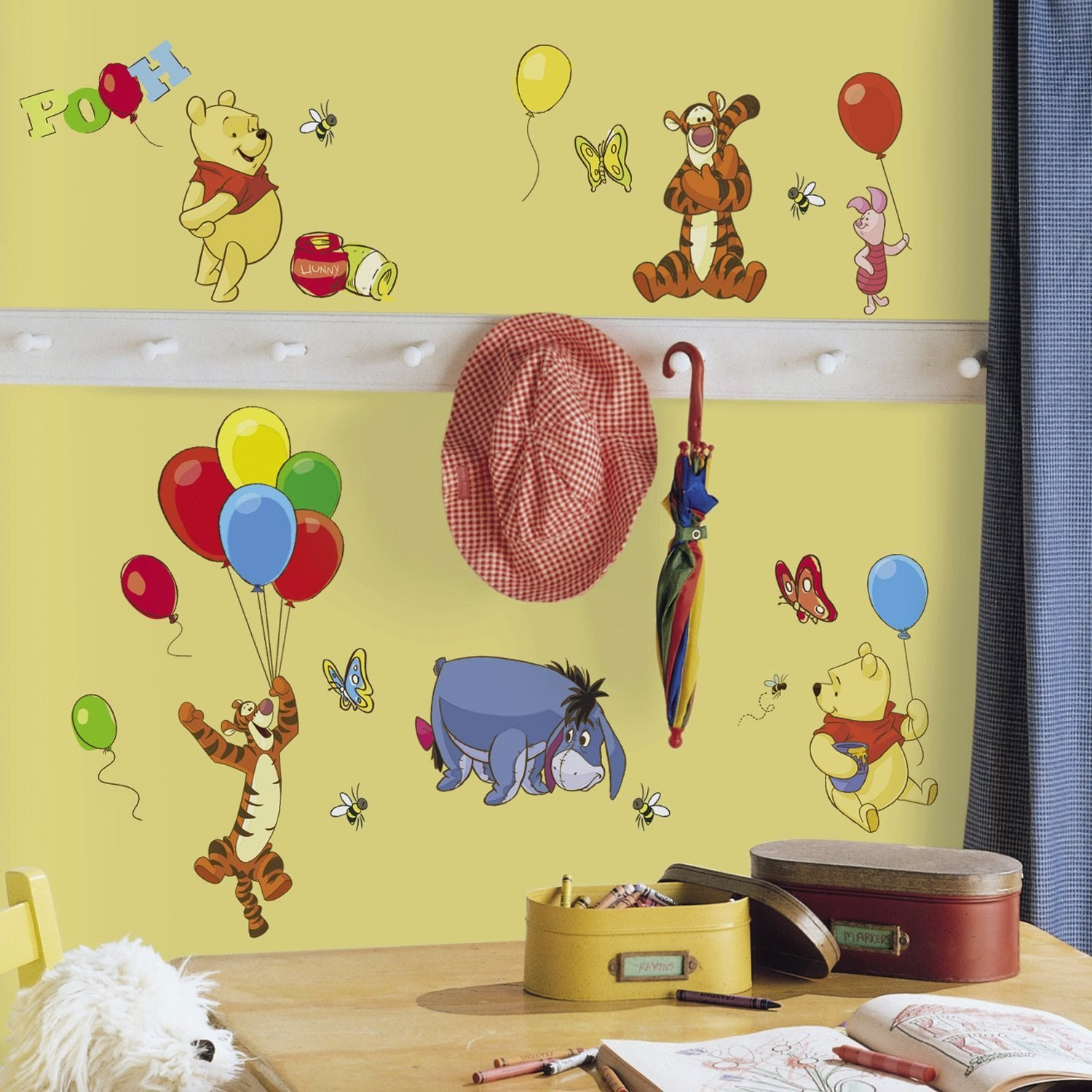 Roommates Rmk1498Scs Pooh And Friends Peel and Stick Wall Decal | Pooh