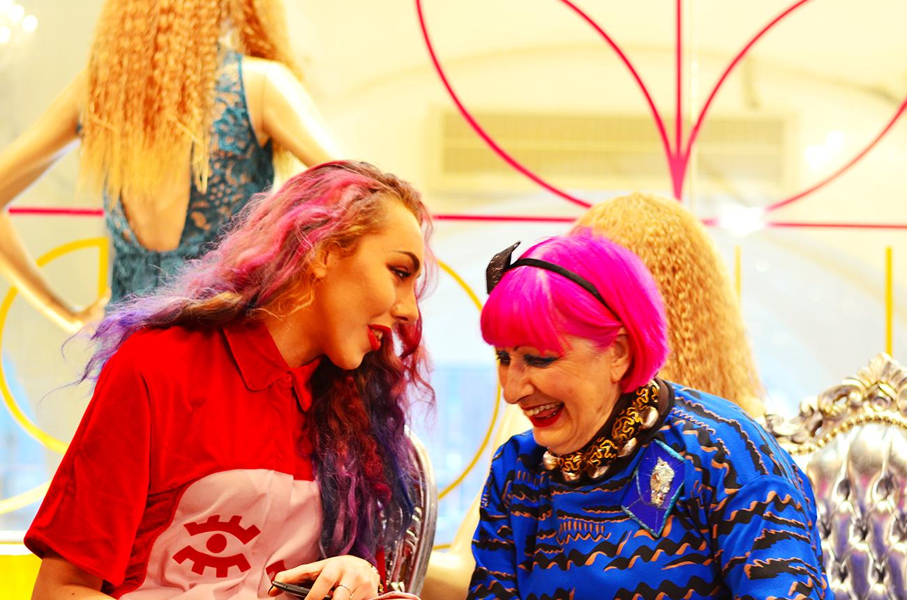 boudoir boutique interview with zandra rhodes