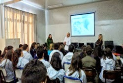 Palestra realizada pelas alunas de Administração da FSG