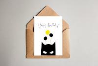 Urodzinowa kartka z Batmanem