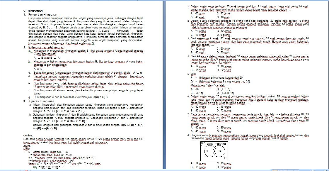 Kumpulan Soal Matematika Un Smp Relasi Dan Fungsi