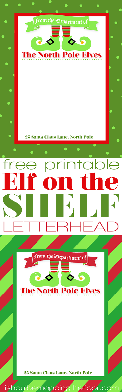 Elf on the Shelf Letterhead The North Pole Elves