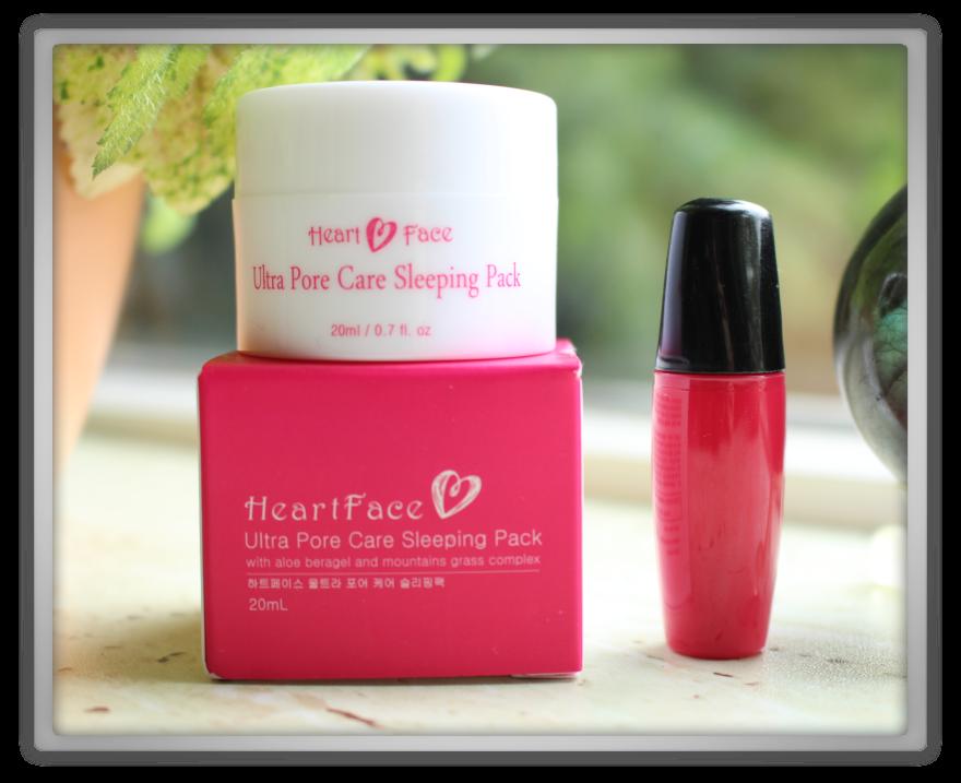 겟잇뷰티박스 by 미미박스 memebox beautybox naked nakedbox #14 unboxing review preview box HEART FACE Pore Care Sleeping Pack Tonymoly Delight Tony Tint Red