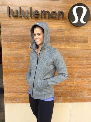 lululemon coal salt and pepper scuba hoodie