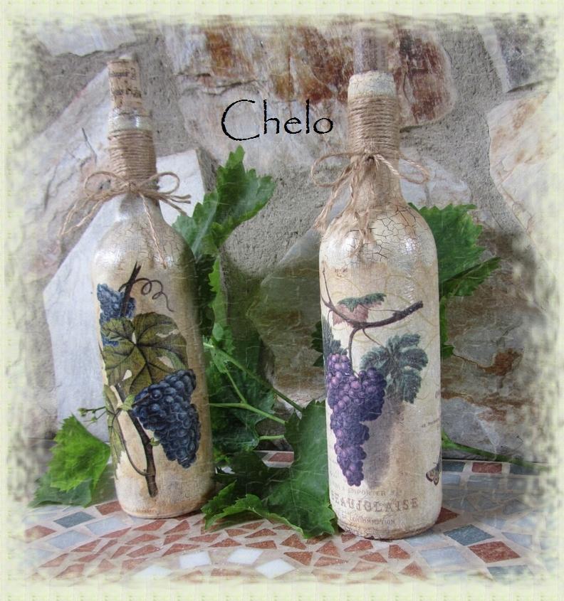Expositores para las botellas de vino de cpmunion vino - Botellas de vino decoradas ...
