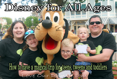 How to enjoy Disney with kids of all different ages from LoveOurDisney.com