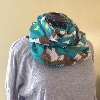 http://sewrachel.blogspot.com/2013/11/a-simple-infinity-scarf-on-serger.html