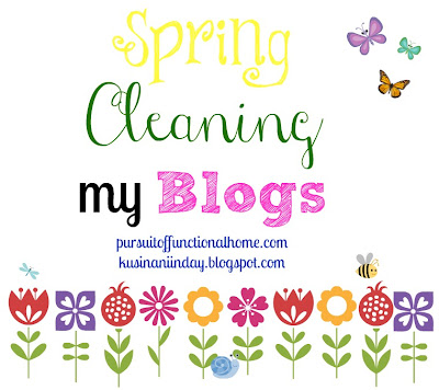 Spring Cleaning my Blogs