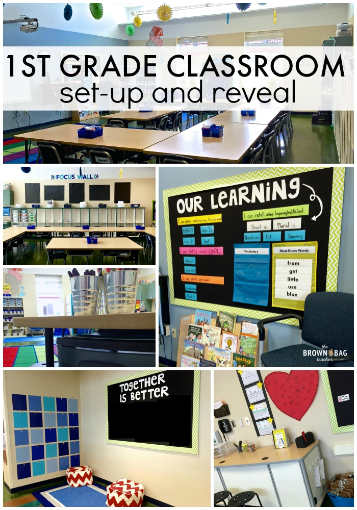 1st Grade Classroom Reveal 2015 2016 The Brown Bag Teacher