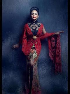 Model Baju Kebaya Artis Krisdiyanti Cheongsam Anne Avantie Kombinasi Batik