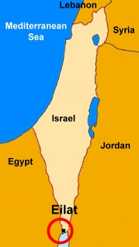 Image result for eilat israel map