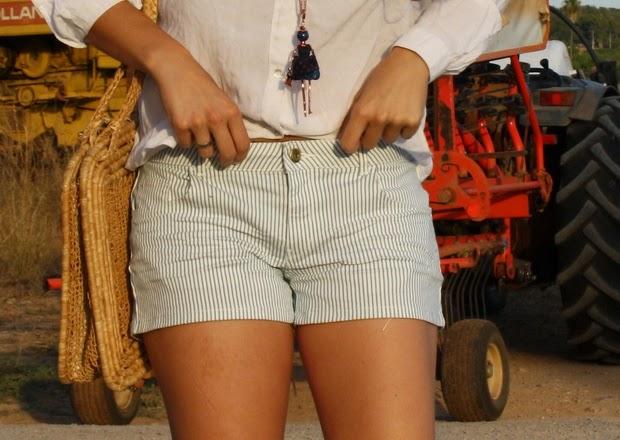 pantalon corto rayas