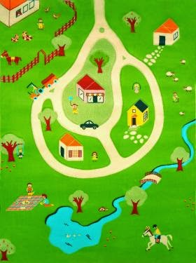farm interactive rugs model for kids