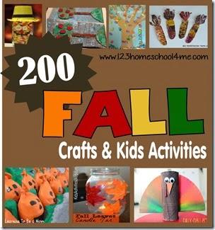 200 Fall Crafts & Kids Activities #fall #preschool #craftsforkids #kidsactivities