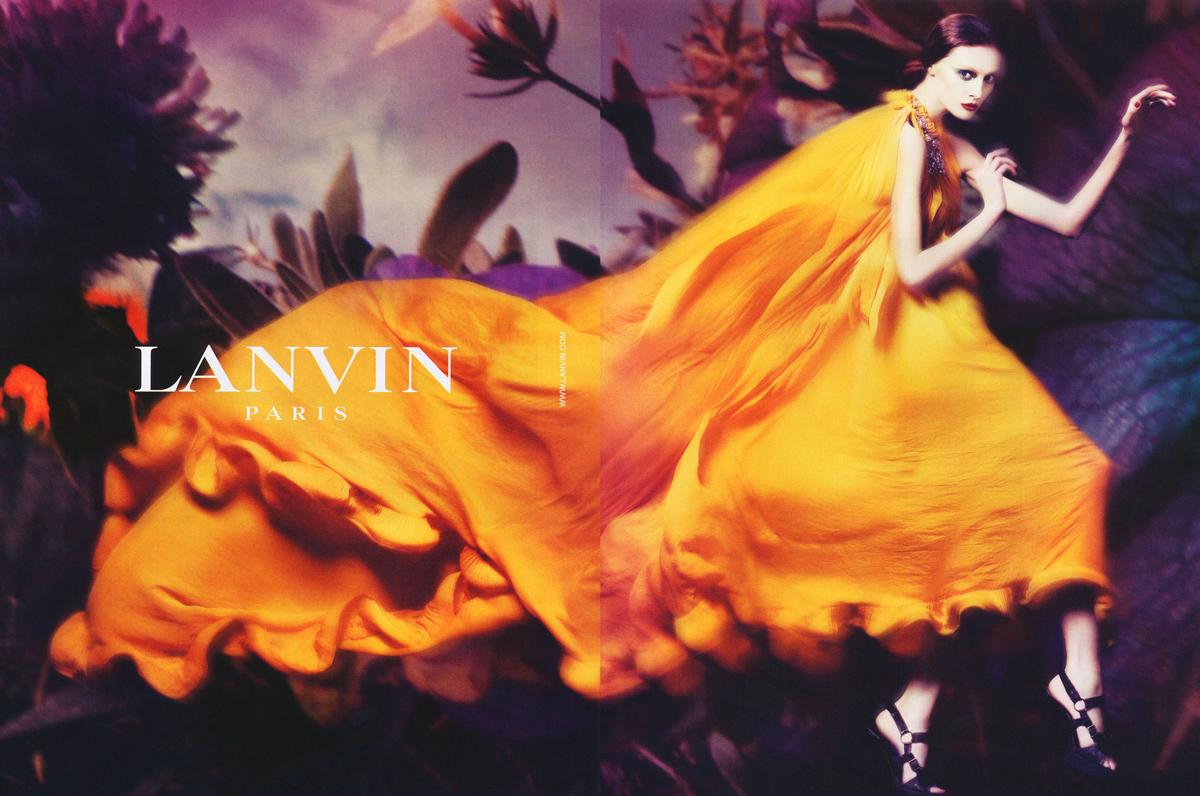 Lanvin Spring/Summer 2008 campaign (photography: Steven Meisel, styling: Edward Enninful, model: Olga Sherer) via www.fashionedbylove.co.uk british fashion blog