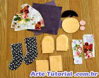 Material de boneca de pano tecido