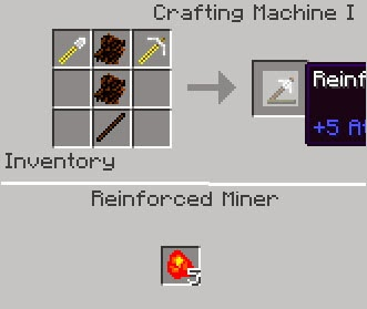 Geo Activity Mod Minecraft reinforced miner crafting